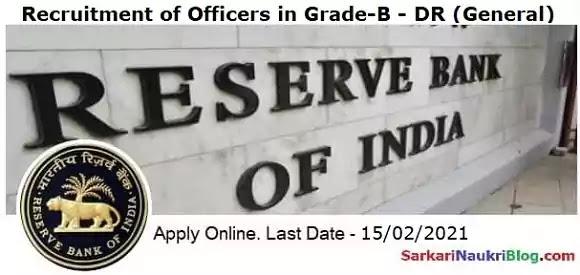 RBI Officer Grade-B Vacancy Recruitment 2021