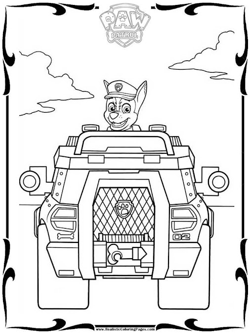 Mewarnai Coloring Paw Patrol Coloring Book Pages Paw Patrol