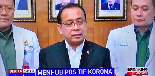 Breaking News! Istana Umumkan Menhub Jokowi Positif Idap Corona