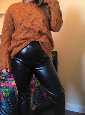 Black High Waisted PU Leggings*