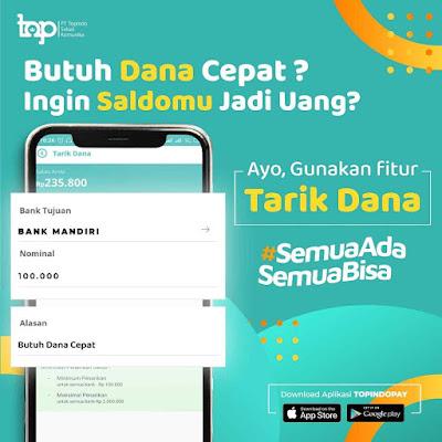 Fitur Tarik Dana Topindopay