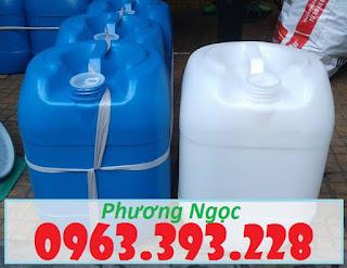 Can đựng hóa chất, can nhựa HDPE nguyên sinh, can nhựa cao cấp, can đựng hóa chất các loại