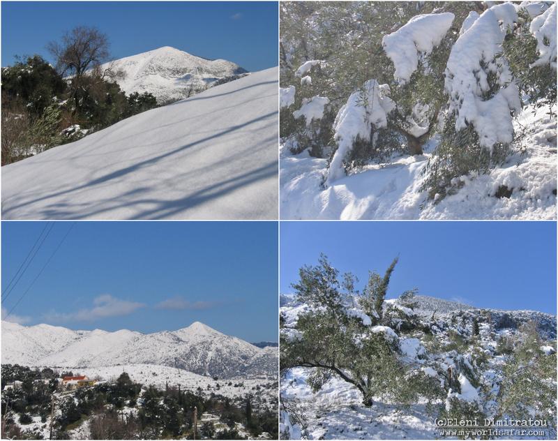 Κεφαλονιά, χιόνι, Αίνος, Ξενόπουλο