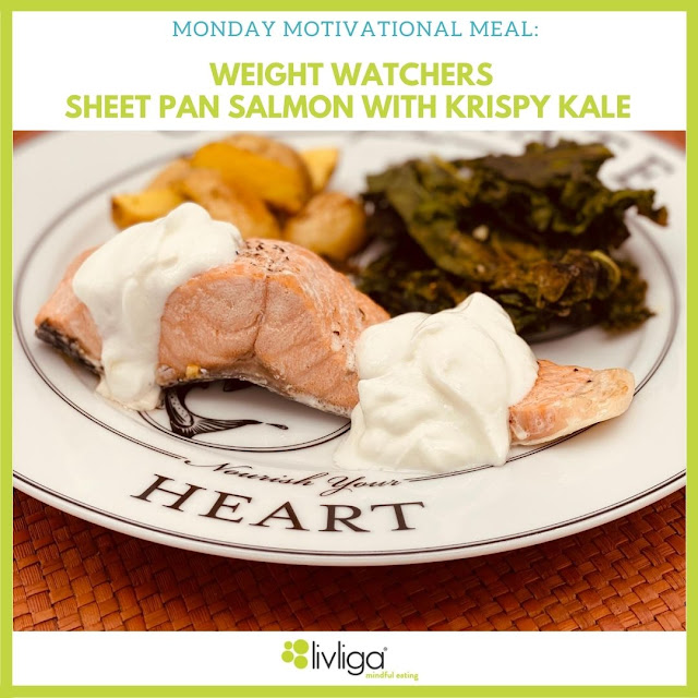 Livliga Sheet Pan Salmon Celebrate Dinner Plate