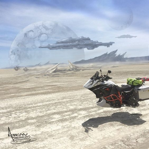 Corin's hover bike landscape, Mike Morgan