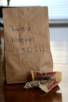 30th birthday gag gifts you're a whoppin 30 whoppers