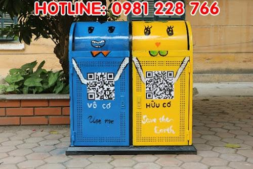 trang trí thùng rác - nâng cao ý thức phân loại rác