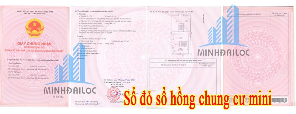 Sổ đỏ sớm nhất cho chung cư mini Hà Nội