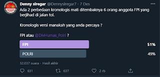 Tamparan Keras Buat 'Desi', Bikin Polling: Lebih Percaya FPl atau Polisi, Followernya Lebih Milih FPl