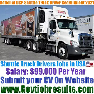 National DCP Shuttle Truck Driver Recruitment 2021-22