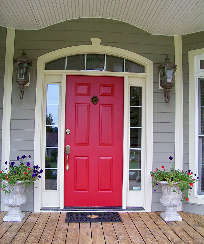 Modern Red Front Door: Front Door Colors On Pinterest