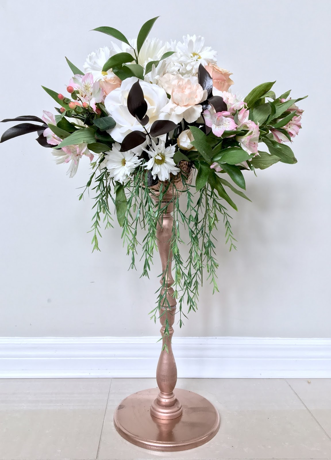 DIY Tall Wedding Centerpiece
