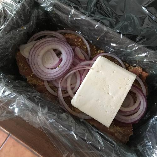 Zupf-Gyros mit Feta und Zwiebel aus dem Backofen