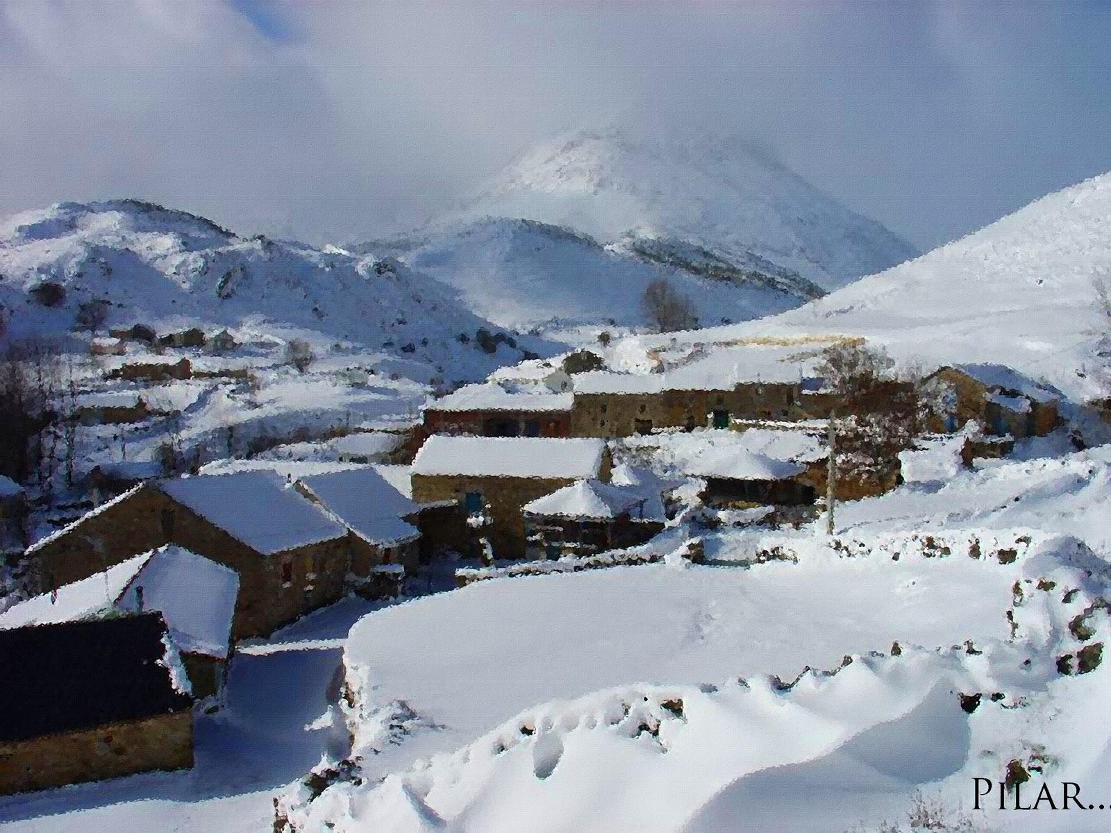 Una Montaña Nevada: PILAR Y SUS COMPLICES: VAYA NEVADA EN ALGUN PUEBLO DE LA