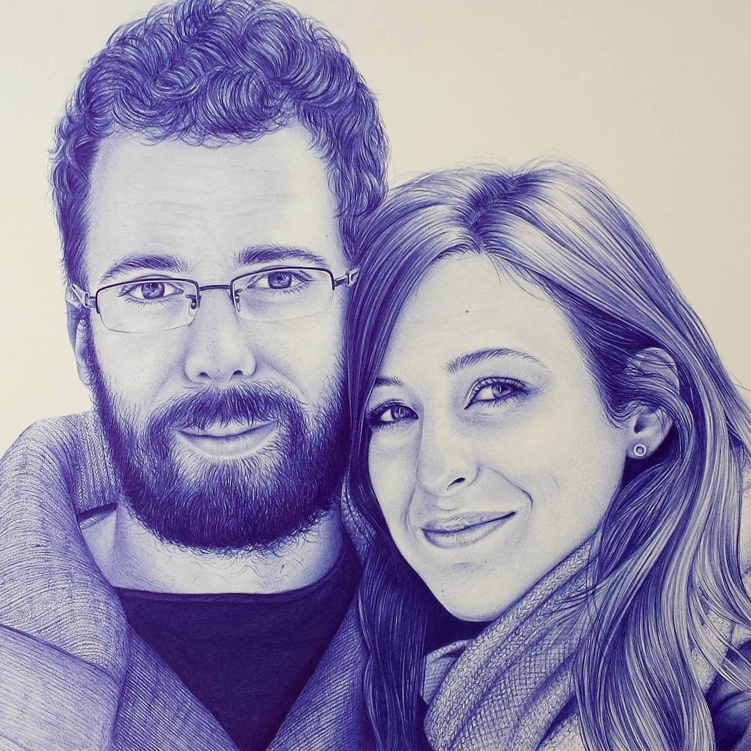 08-Couple-Eva-Garrido-Ballpoint-Bic-Pen-Portrait-Drawings-www-designstack-co