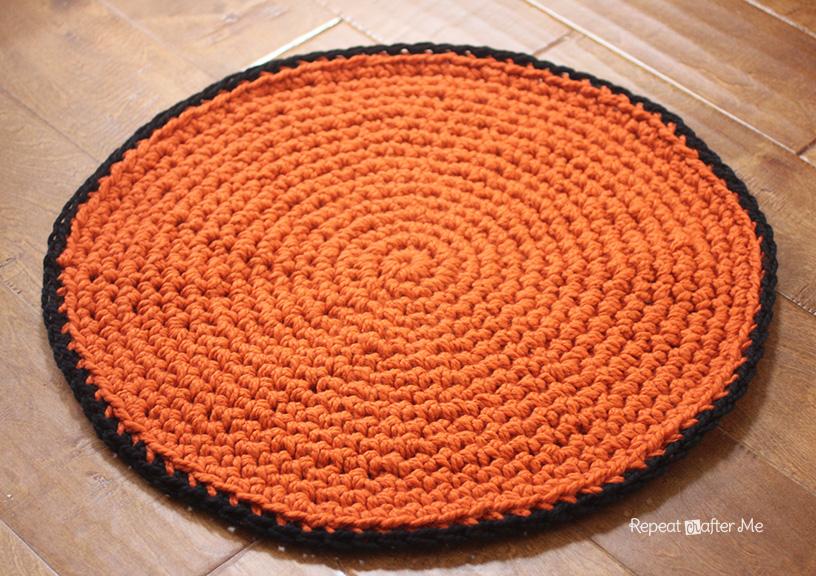 Circular Crochet Rug Pattern