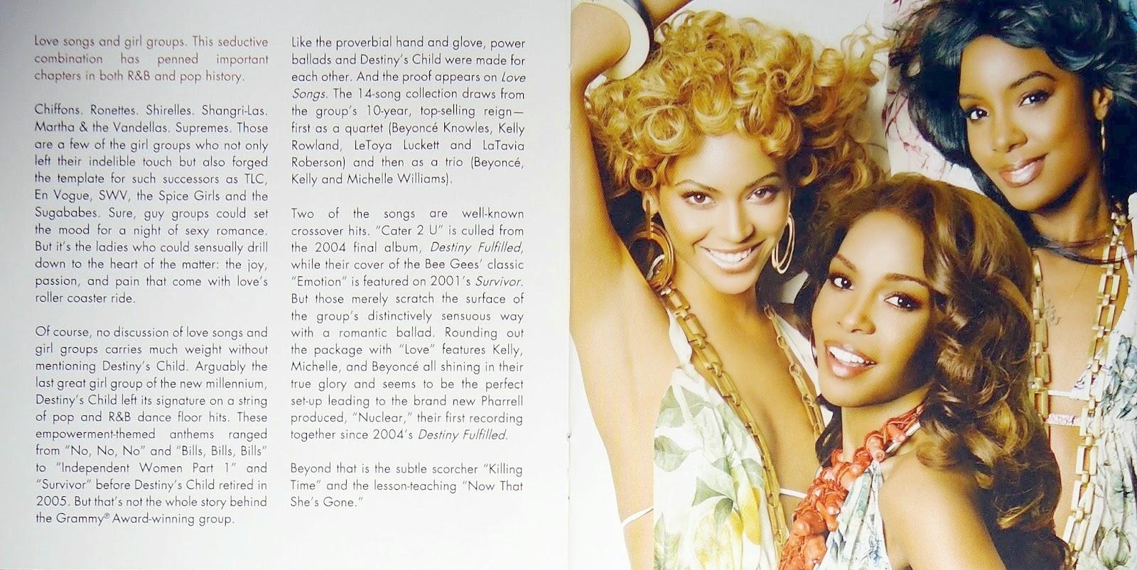 Encartes Pop: Encarte: Destiny's Child - Love Songs