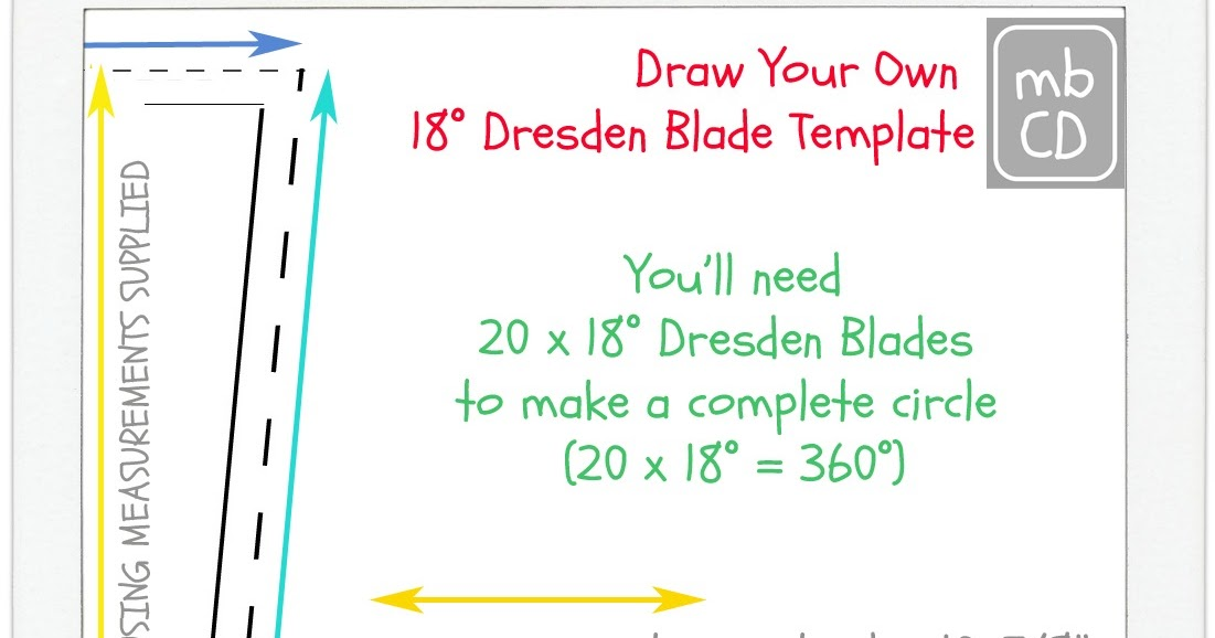 Chris Dodsley MbCD How To Make A Dresden Plate Blade Template - Dresden plate template