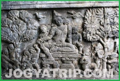yogyakarta travel guide, relief Kuwera mendut temple