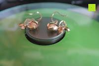 Seite: Neoglory Jewellery 14 K gold mit Swarovski® Elements Ohrringe Schmetterling gelb
