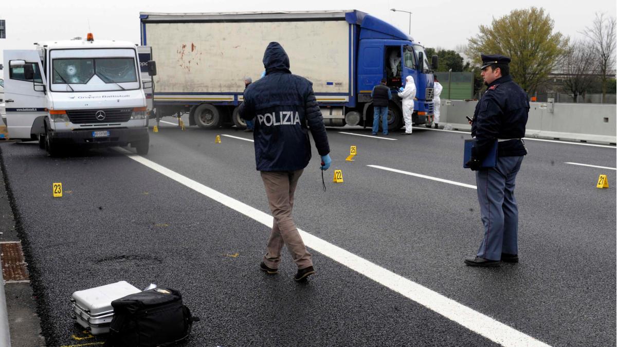 Assalto Tir tangenziale Catania Polizia