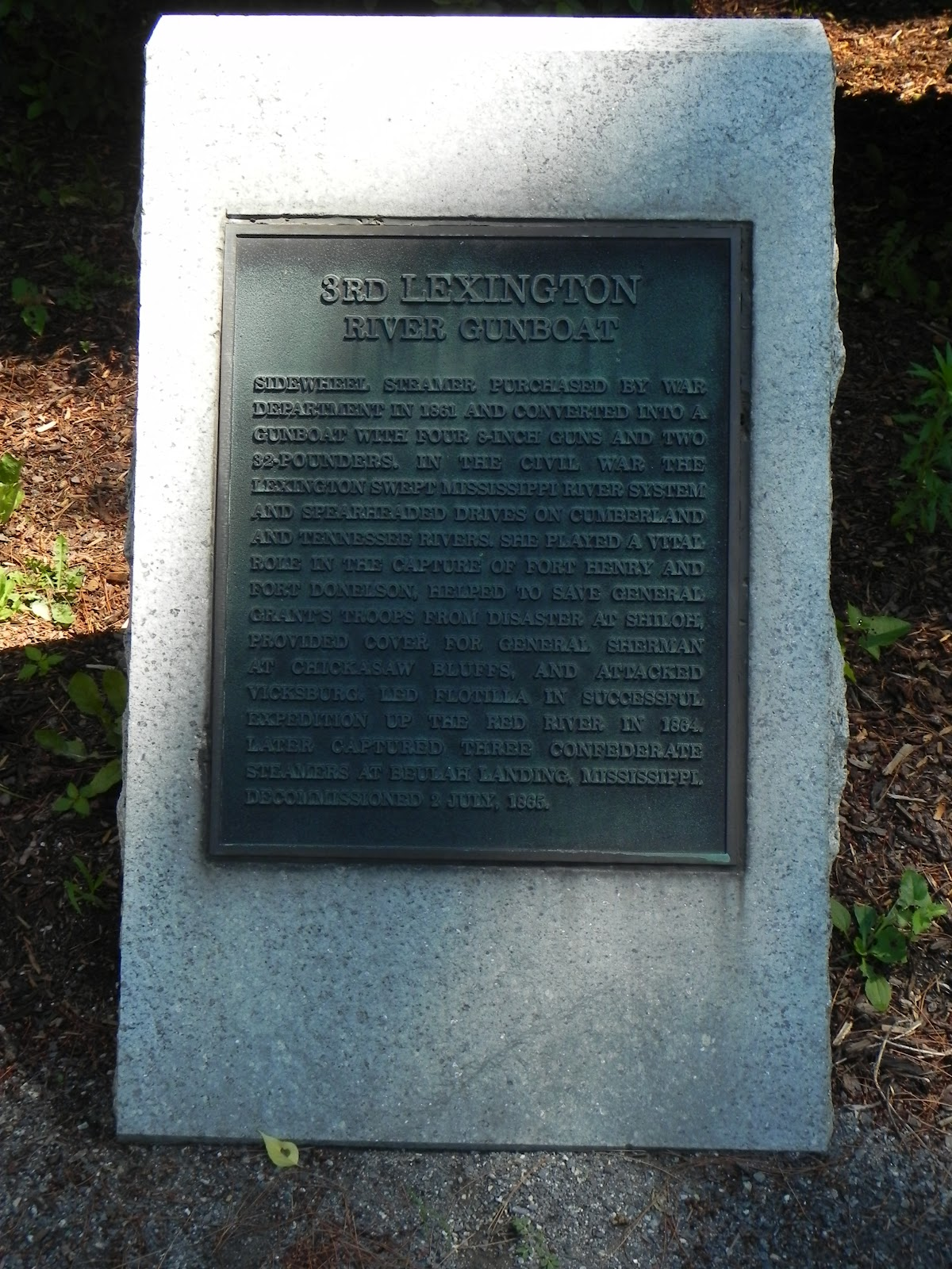 all not so quiet along the potomac a civil war enthusiast s marker dedicated to the timberclad gunboat lexington