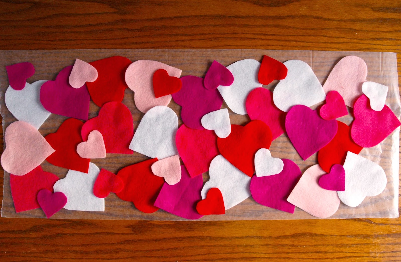 Glimmer Creations Easy No Sew Valentine S Day Felt Heart Table