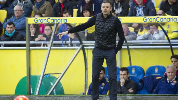 Luis Enrique, satisfecho con el triunfo contra Las Palmas