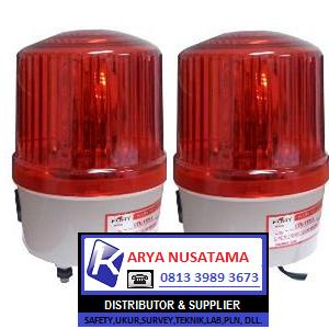 Jual Lampu LED Rotary 1161 6 Inch Merah di Sumatera