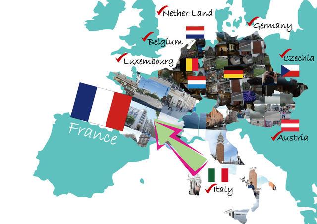 25歲的世界之旅 第9國 法國 巴黎