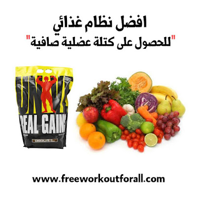 افضل نظام غذائي للحصول على كتلة عضلية صافية