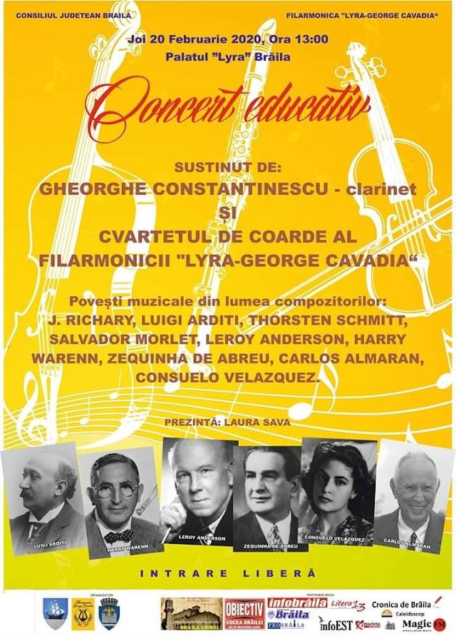 Concert educativ cu povesti muzicale la Filarmonica Lyra