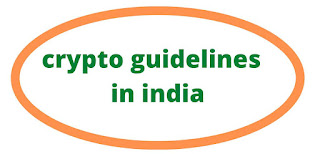 crypto guidelines  in india