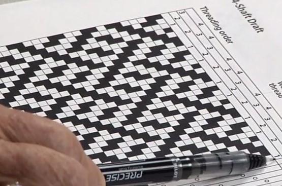 Fabric weaving drafting