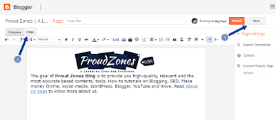 Adding profile bio gadget Blogger
