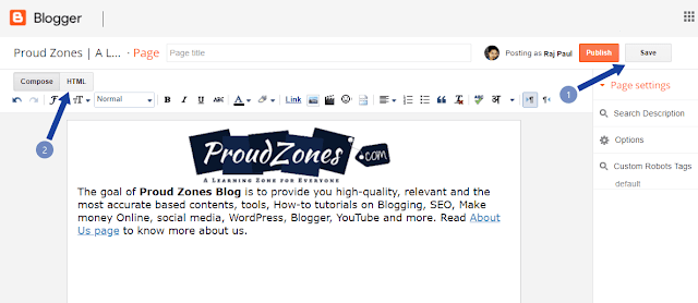 Adding profile bio gadget Blogger