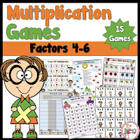 Multiplication Games for factors 4 to 9