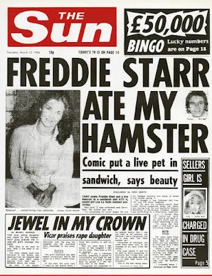 The Sun's 'Freddie Starr Ate My Hamster' Headline