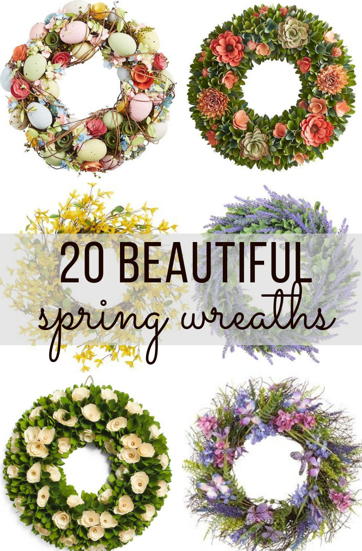 inexpensive spring wreaths for front porch