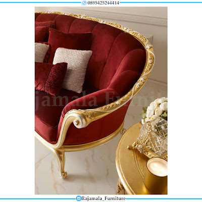 Sofa Tamu Mewah Classic Luxury Golden Glossy Duco RM-0377