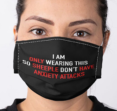 I am only wearing so sheeple dont have anxiety Facemask Mask,  only wearing so sheeple dont have anxiety Facemask Mask,