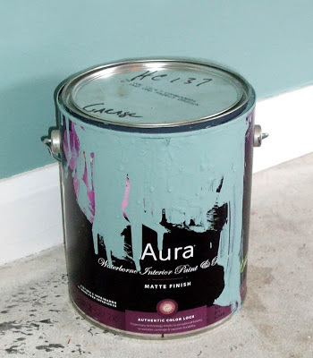 Benjamin Moore Aura Waterborne Interior Paint HC-137 Mill Springs Blue Can