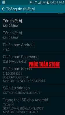 Tiếng Việt Samsung G386W alt