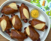 Fun Pretzel Roll Hot Dogs