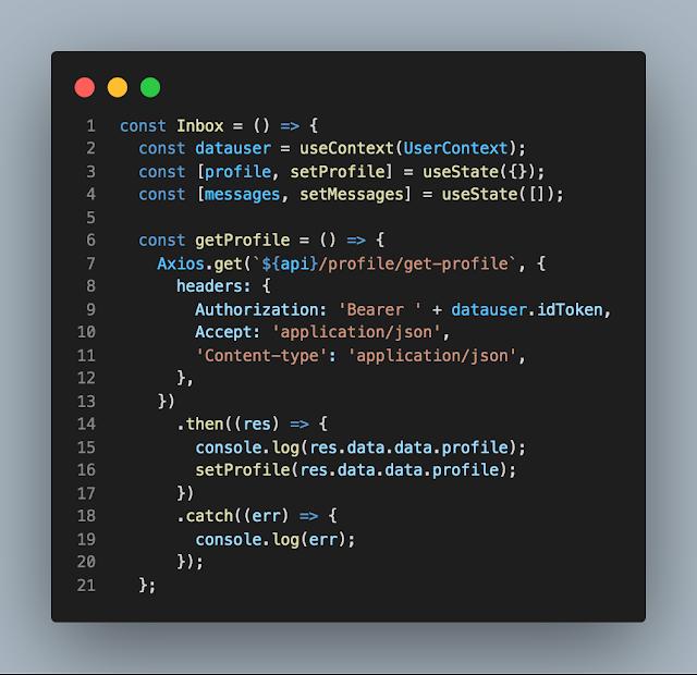 Cara memanggil data dengan useContext dari Context Provider