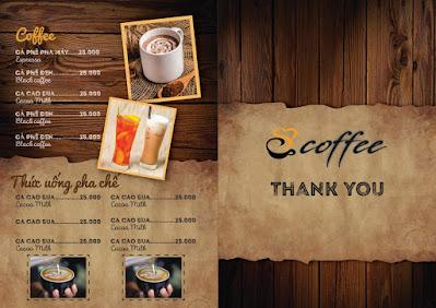 Tải menu cafe miễn phí