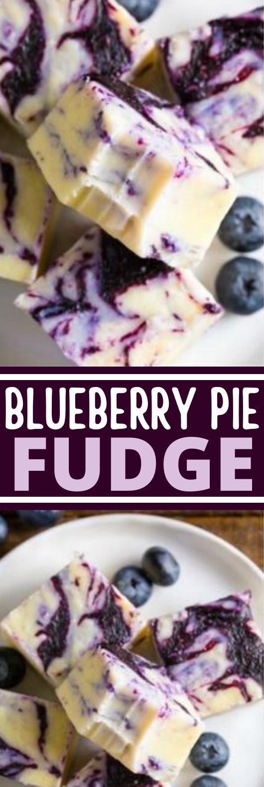 Blueberry Pie Fudge #dessert #recipes #nobake #chocolate #fudge