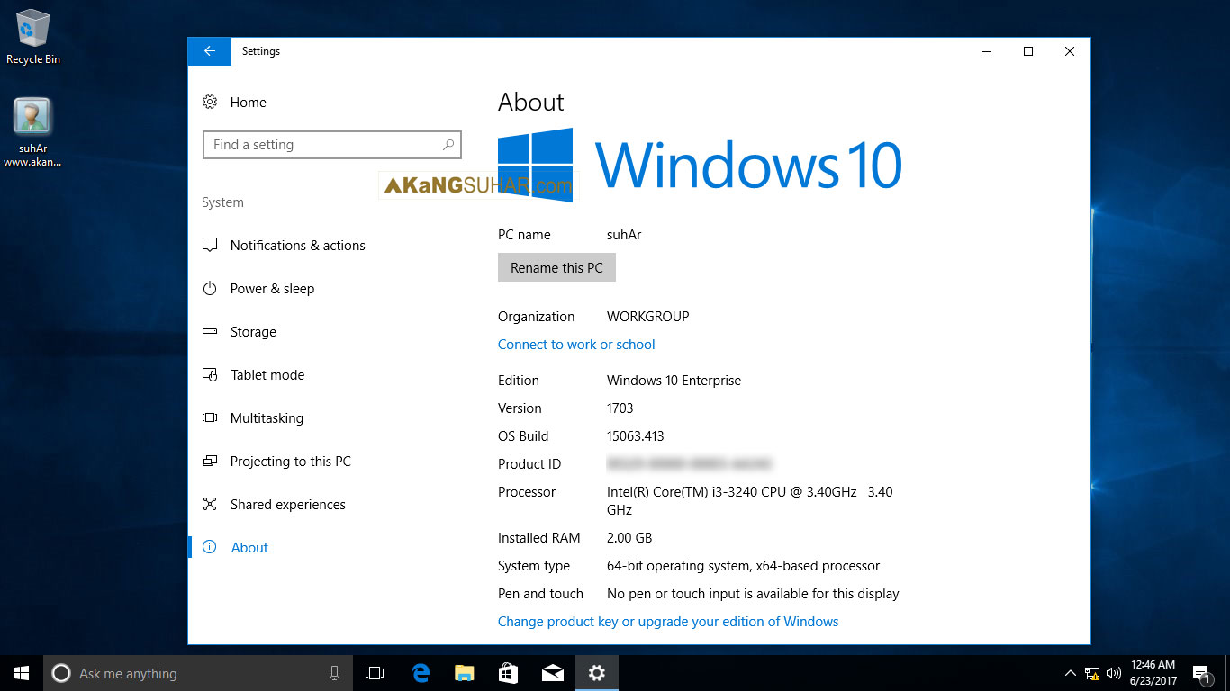 Download Windows 10 multiple edition 1703 Build 15063.413 June 2017 full version terbaru