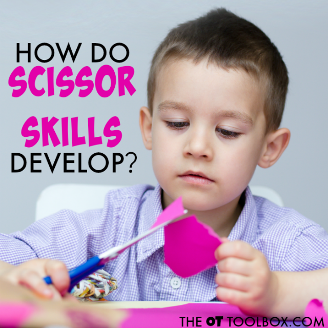 Steps of scissor skill development, this is perfect for anyone who wonders how do scissor skills develop in kids