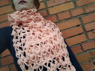 шарф, вязание крючком, шарф своими руками, настроение своими руками, ажурный шарф, красивый палантин, розовый, ручная работа, рукоделие, Яна SunRay
